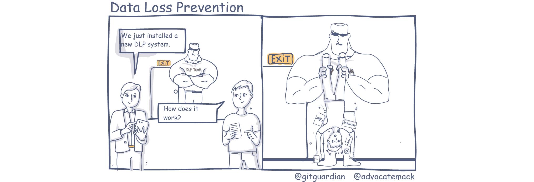 Data Loss Prevention Comic