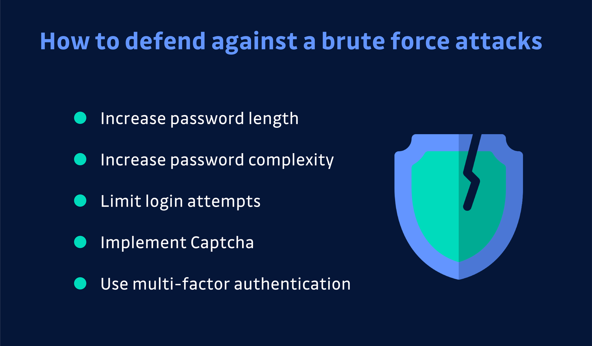 Defend brute force attack